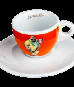 Оранжевая чашка для эспрессо Lucaffe