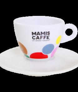 Белая чашка для капучино 180 мл Mami's