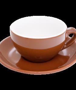 Коричневая чашка для капучино 200 мл от Nuova Point