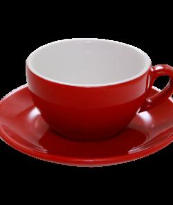 Красная чашка для капучино 200 мл от Nuova Point