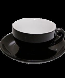 Чёрная чашка для капучино 200 мл от Nuova Point