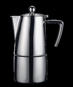 Гейзерная кофеварка Ilsa Slancio (на 10 чашек), матовая