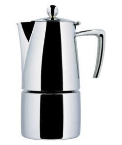 Гейзерная кофеварка Ilsa Slancio (на 6 чашек), полированная