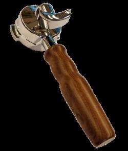 Холдер с деревянной ручкой E61 двойной носик