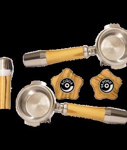 Набор рукояток из оливкового дерева для поворотных клапанов ECM