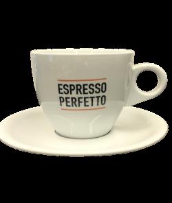 Белея чашка для латте от Espresso Perfetto, с логотипом