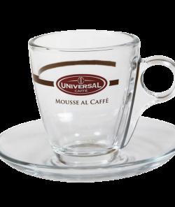 Стеклянная кофейная чашка с блюдцем для эспрессо от Mousse al Caffé